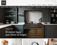 Diseño Menú para web Kitchen Center v.2.0