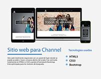 Sitio web para Channel