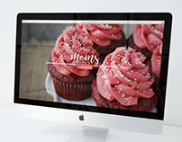 Mom's Cupcakes - Web Design