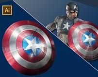 Captain America vector gradient mesh