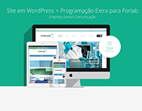 Site Wordpress + Programação Extra para Forlab