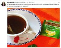 Post para Twitter de Dra Salud