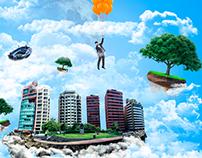 Fotomanipulación- En las nubes