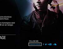 Flyer promocional DJ
