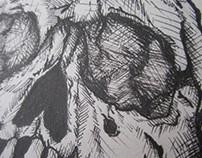 Ink Practice -Skull-
