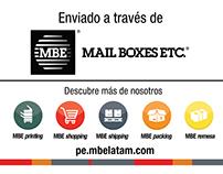 Redacción y propuesta de diseño. Etiquetas. MBE Perú