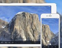 iOS App . Blurring Wallpapers