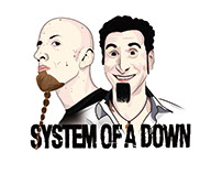 System of a down. ilustración vectorial