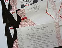 Convite Casamento Artesanal