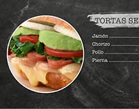 Menú para Restaurante Tortas Mexicanas