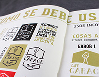 Café Garage: Manual de identidad