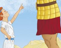 Ilustração - Davi e Golias