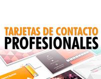 Tarjetas de contacto profesionales