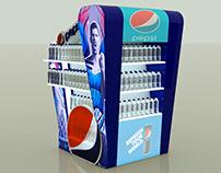 Exhibidor comercial Pepsi