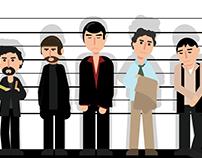 Unusual Suspects - Geometric Flat Illustration