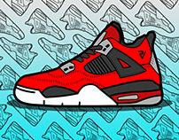Jordan Air IV | Illustration by me