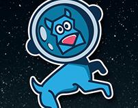 Space Dog   logo   illustration