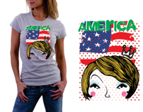 t shirt america for girls
