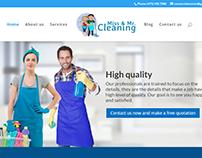 Criação do site missandmrcleaning.com para Cliente(EUA)