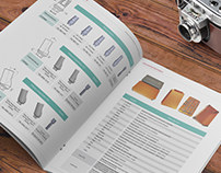 Some pages of Catalogue design for Inspiral Implants