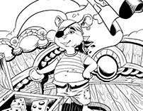 Mouse pirate - ink
