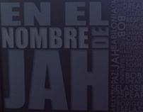 Impreso en el nombre JAH