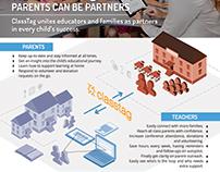 Classtag leaflet design