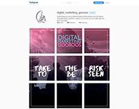 """Strategic design for """"DM Gooros"""" instagram"""