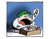 LA PEGA comic strip 2001
