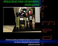 Producción de stand y escenografías, diseño interior