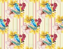 Estampa Pássaro azul - TE0001