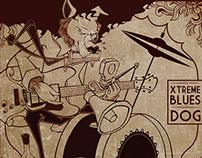 arte e ilustração para o disco do XTREME BLUES DOG