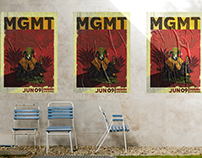 Cartelismo Ilustrado Concierto MGMT