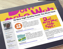 iPad Magazine that Looks Like a Blog
