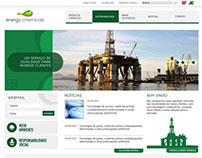 Projeto, desenho e montagem site Energy Chemicals