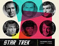 Star Trek retro poster.
