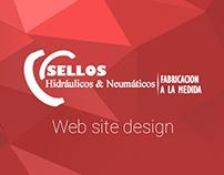 Sellos Hidráulicos & Neumáticos WebSite design