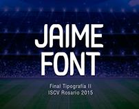 Jaime Font - Tipografia II / 2015 - ISCV Rosario