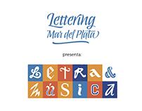 """Muestra """"Letra y Música"""" - Lettering Mar del Plata"""
