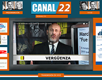 Diseño web streaming canal 22