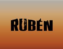 """Gráfica y títulos para el cortometraje """"Rubén""""."""