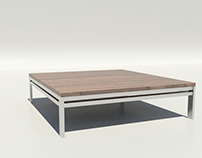 Coffee table wood and iron
