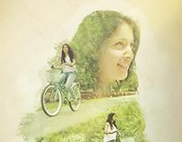 Doble Exposición - Bicicleta