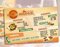 Volante Publicitario | Restaurante Emmanuel
