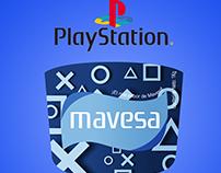 Etiqueta de la mantequilla mavesa+PlayStation. ActUniv.