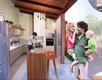 Projeto de reforma de cozinha e jardim