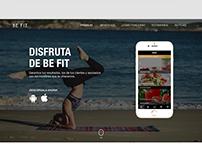 Be Fit App / Web UI