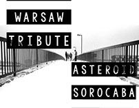 Cartaz Warsaw Tribute - Asteroid Sorocaba 2016
