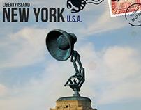 Liberty Island (Luxo - Pixar Version) 3D Model / Postal