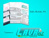 Logomarca e Folder Portfólio LavaAí